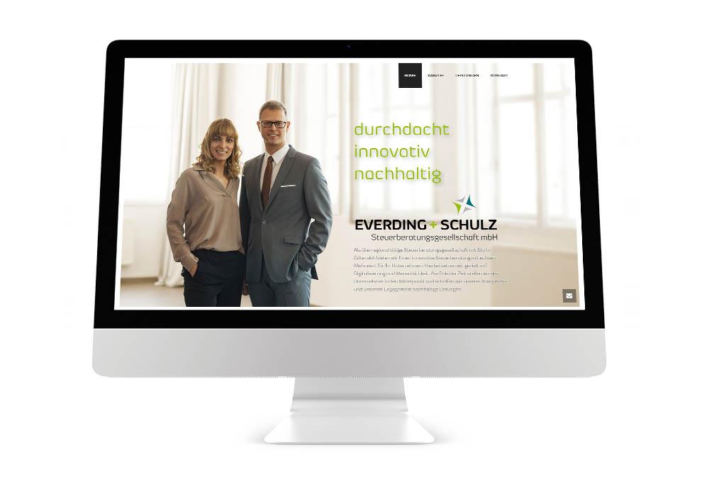 Webdesign Steuerberatungskanzlei Everding + Schulz Steuerberatungsgesellschaft mbH