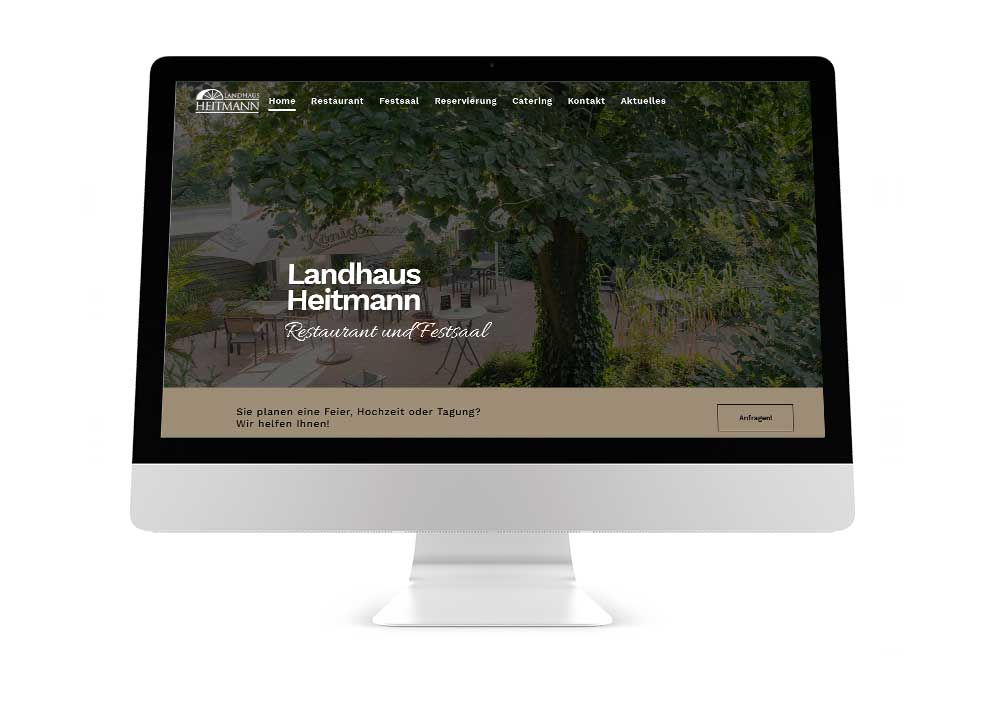 Webseite Restaurant Heitmann
