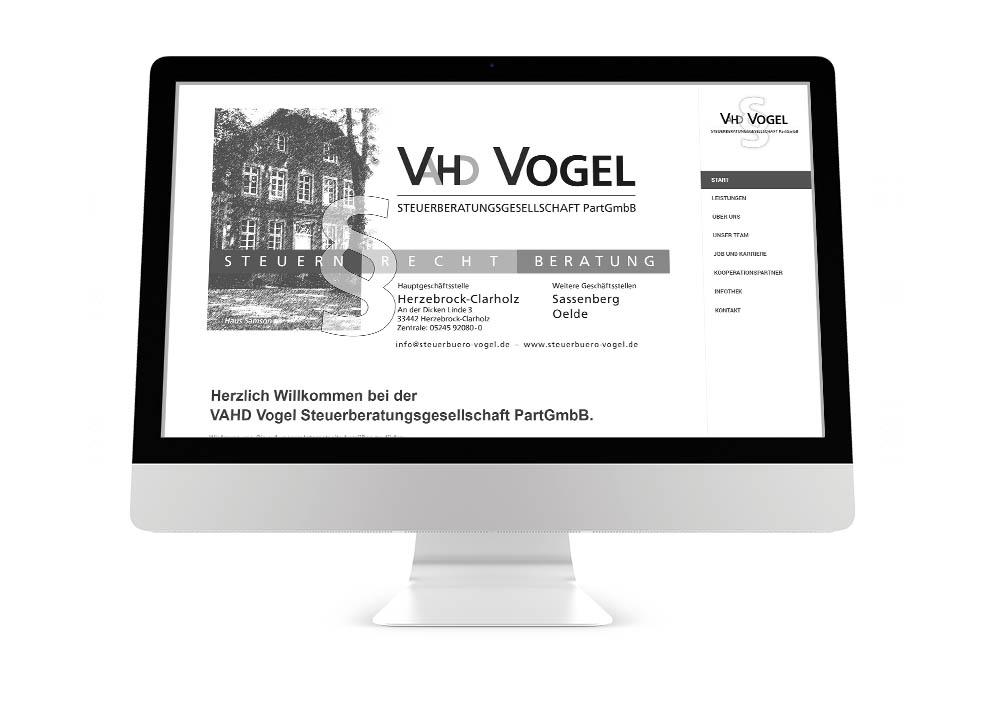 Webdesign Steuerberatung VAHD Vogel